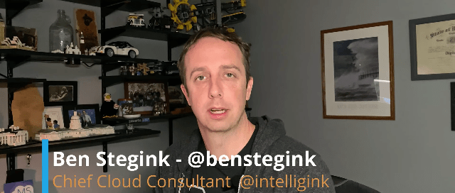 Head of Ben Stegink, Cheif Cloud Consultant of Intelligink