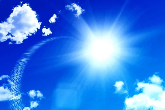 真夏の太陽紫外線
