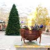 Shops at the Riverwoods. Fire feature by Ben Sutorius
