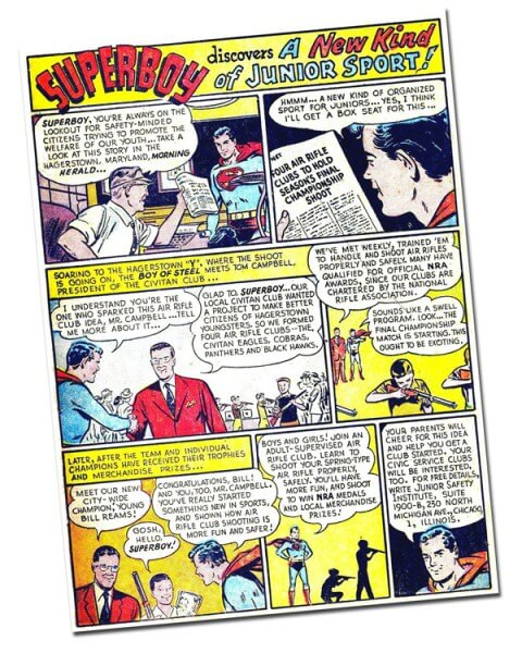 The day Superboy came to Hagerstown and received a 21 BB gun salute