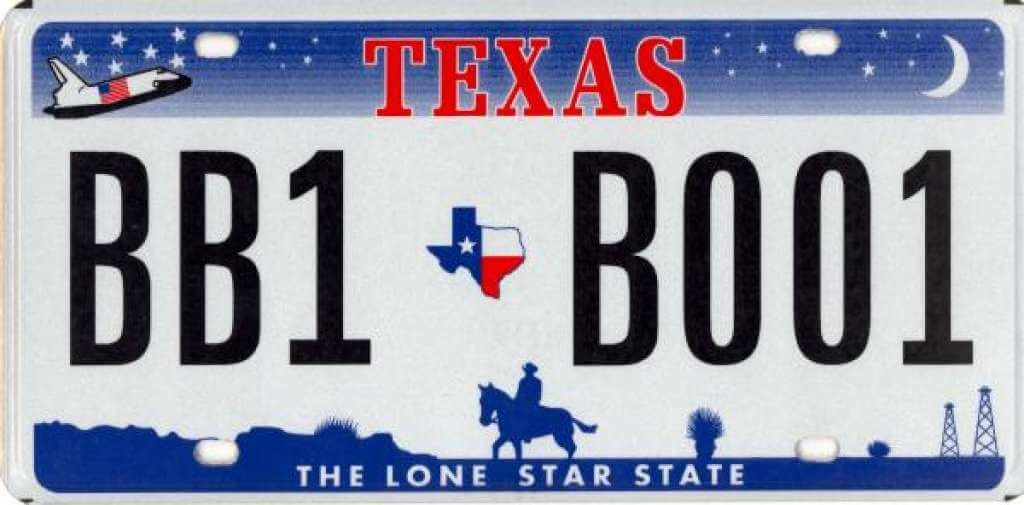 Why does Texas have the Space Shuttle on their license plate?