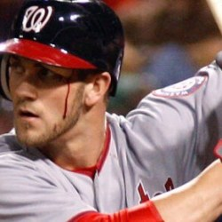 Bryce Harper throws tantrum, injures face