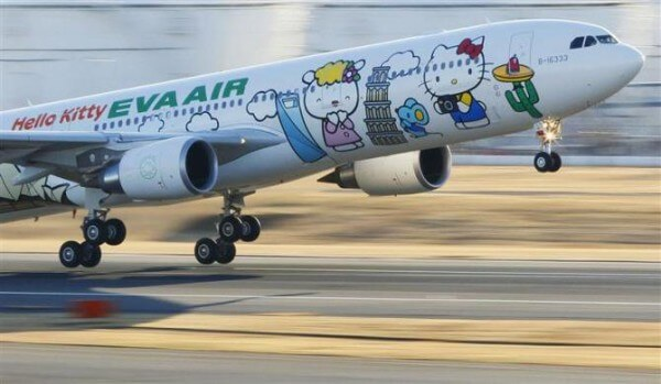 Fly the friendly skies with Hello Kitty
