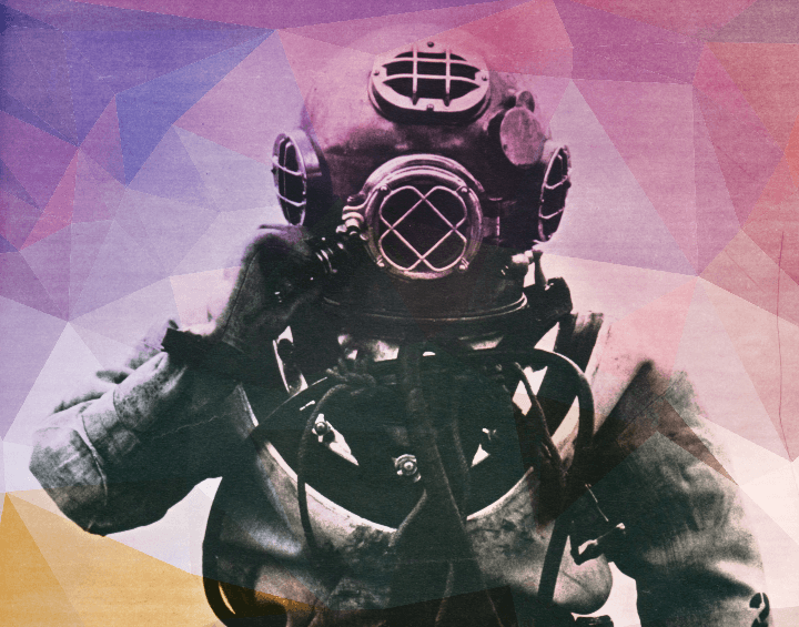 Working at a tech support call center is a lot like being a deep sea diver