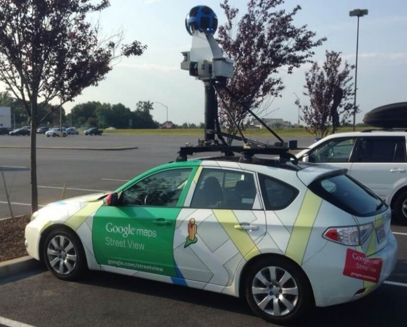 Google Street View car in the Hagerstown area