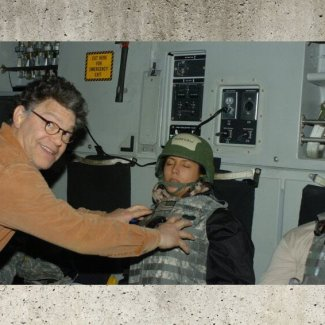 You can add Senator Al Franken to the list of pervs
