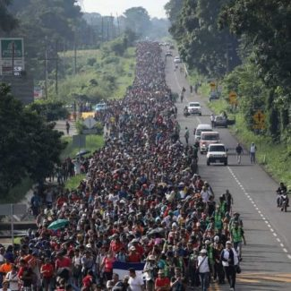 The giant migrant caravan heading to the United States