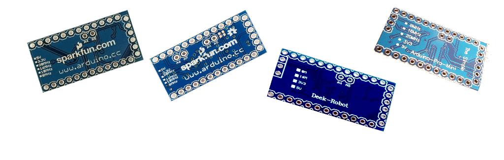 Comment reconnaître la version d'un Arduino Pro Mini ?
