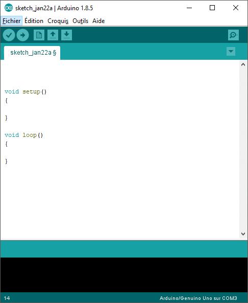 Strucutre de base d'un programme Arduino