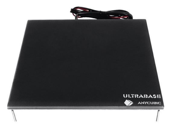 Plateau chauffant avec sa plaque Anycubic UltraBase.
