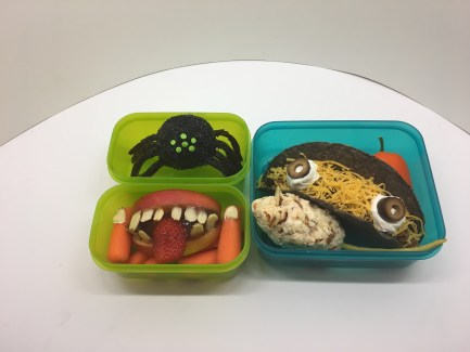 6 Halloween Bento Boxes; No Time for Housework, we've got to carve pumpkins