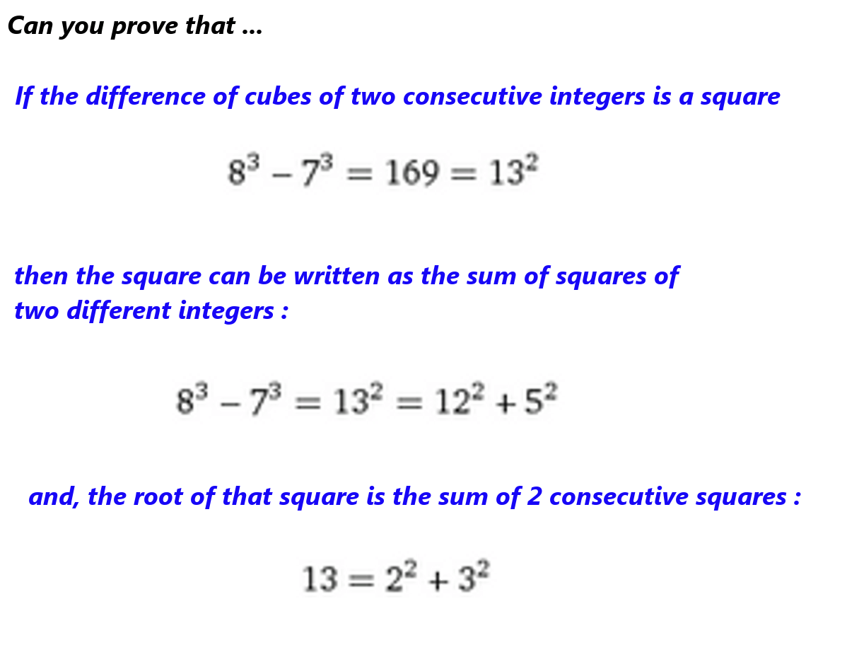Difference Of Two Consecutive Cubes
