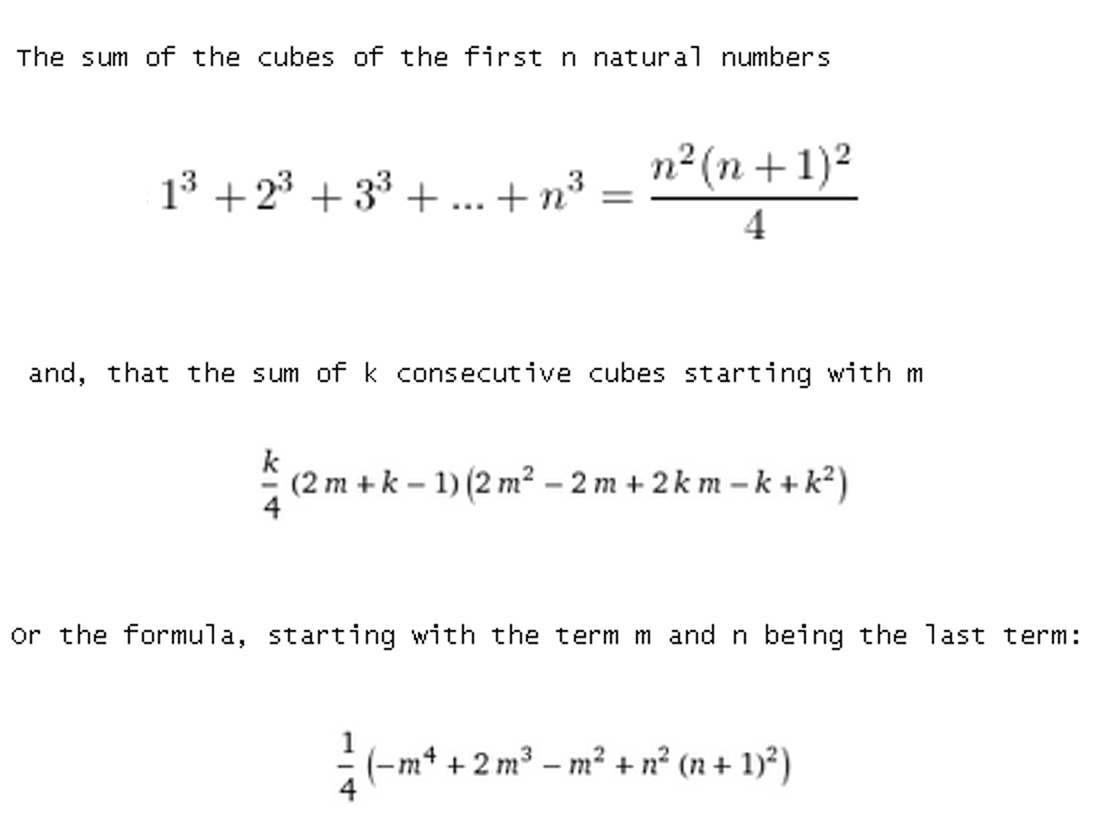 When Sum Of Cubes Equals A Cube