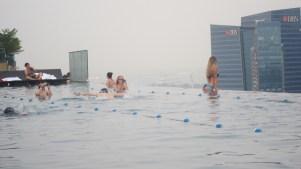 Ben and bikini babe at Infinity pool