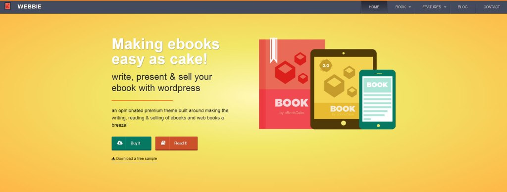 Webbie WordPress theme for writers and authors