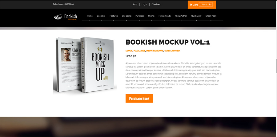 Bookish WordPress theme for writers and authors