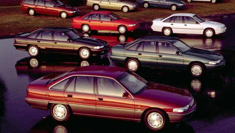 The VP was largely an aestheic update over the VN, but brought IRS to the mainstream sedan range for the first time.