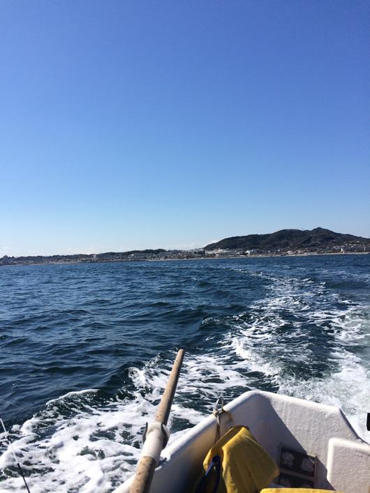 シロギス釣り、沖へ