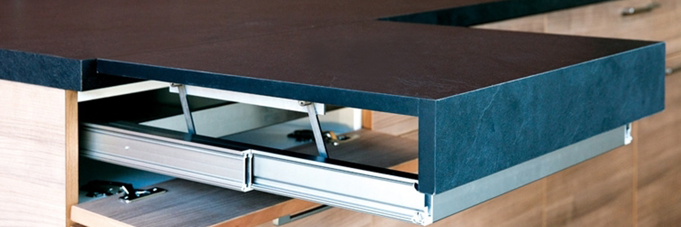 OPLA TOP Pull Out Surface Flush With Worktop 900mm Natural Aluminium In India Benzoville