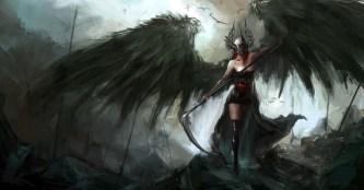 fallen-angel-warrior-iphone-anime