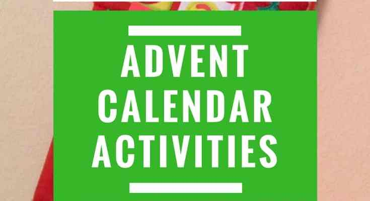 Christmas Advent Calendar Activities