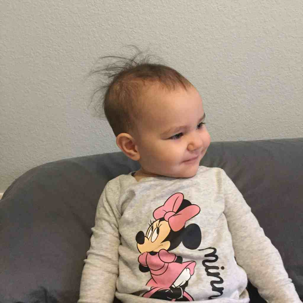 baby with messy hair minnie mouse momblog