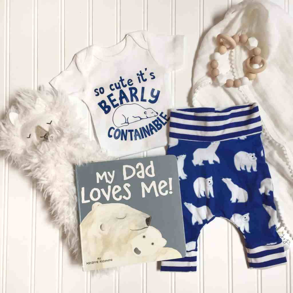 newborn flatlay clothing photo