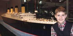 An autistic youngster uses 56,000 Lego bricks to construct the world's most giant Titanic replica.