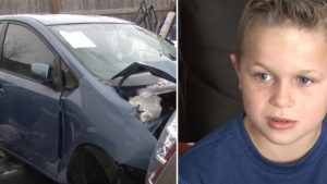 When a boy miraculously saves his father from being crushed by a car, he believes angels were involved.
