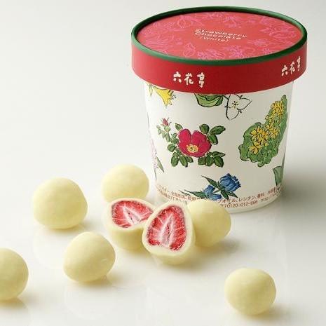 六花亭草莓夾心白巧克力