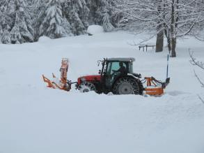 The snow clearing crews were busy