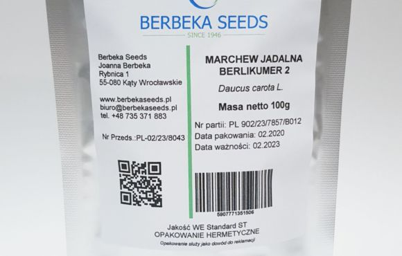 Marchew jadalna Berlikumer 2/ Daucus carota L. – 100g