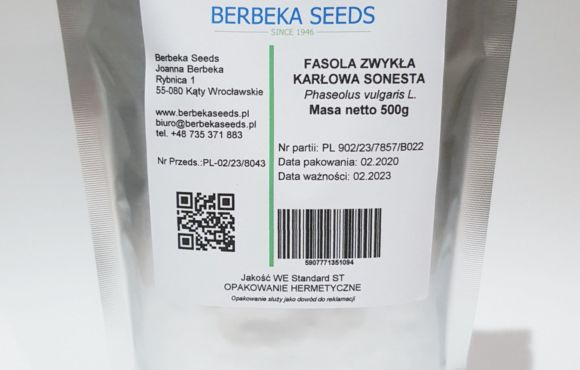 Fasola zwykła karłowa Sonesta 500g Standard BerbekaSeeds