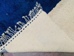 Blue Moroccan Rugs - Handmade Beni Ourain Style - berber area rug - Large authentic Moroccan rug - Teppich marokko