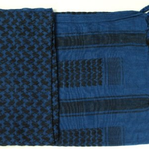 Shemagh Scarf Colonial Blue/Black