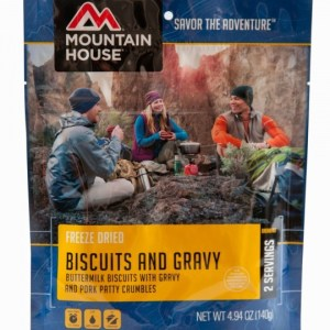 Biscuits and Gravy Freeze-dried Pouched Breakfast