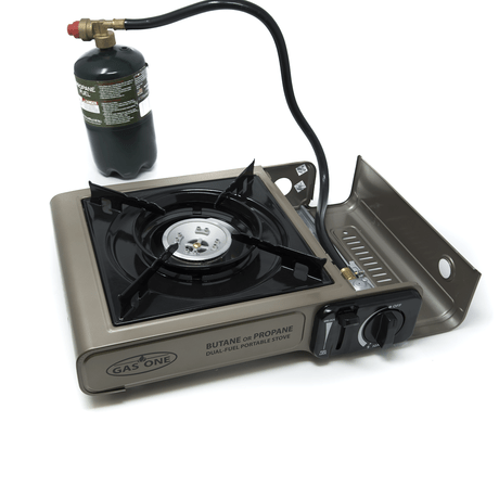 Gas One Dual Fuel Camp Stove using Propane