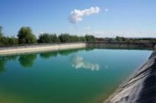 Fertig war der erste Teich.