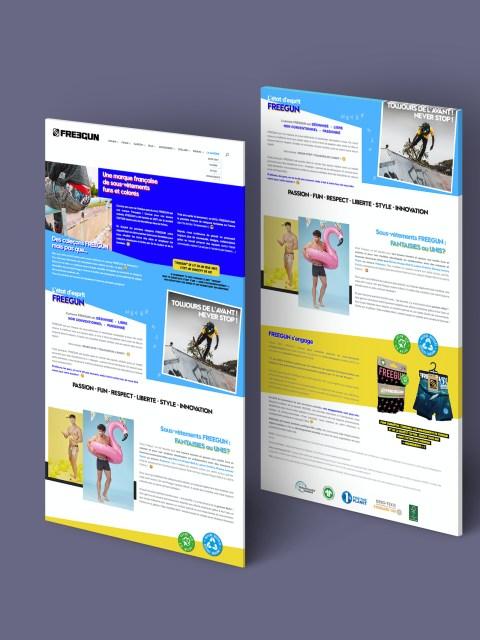 Page site web Freegun