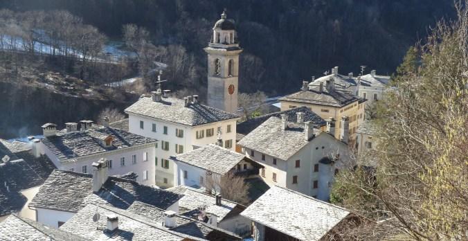 Blick auf Castasegna vom Brentan aus
