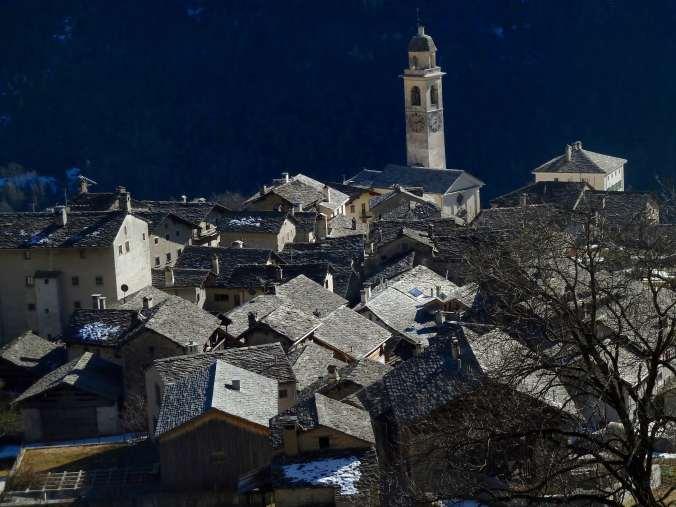 Die Dächer von Soglio, Bergell
