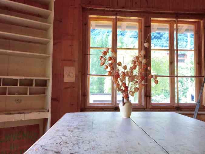 Das Atelier, das insbesondere Giovanni und Alberto Giacometti nutzten