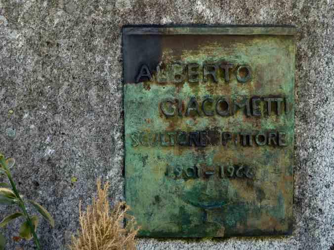 Grabmal von Alberto Giacometti auf dem Friedhof Borgonovo