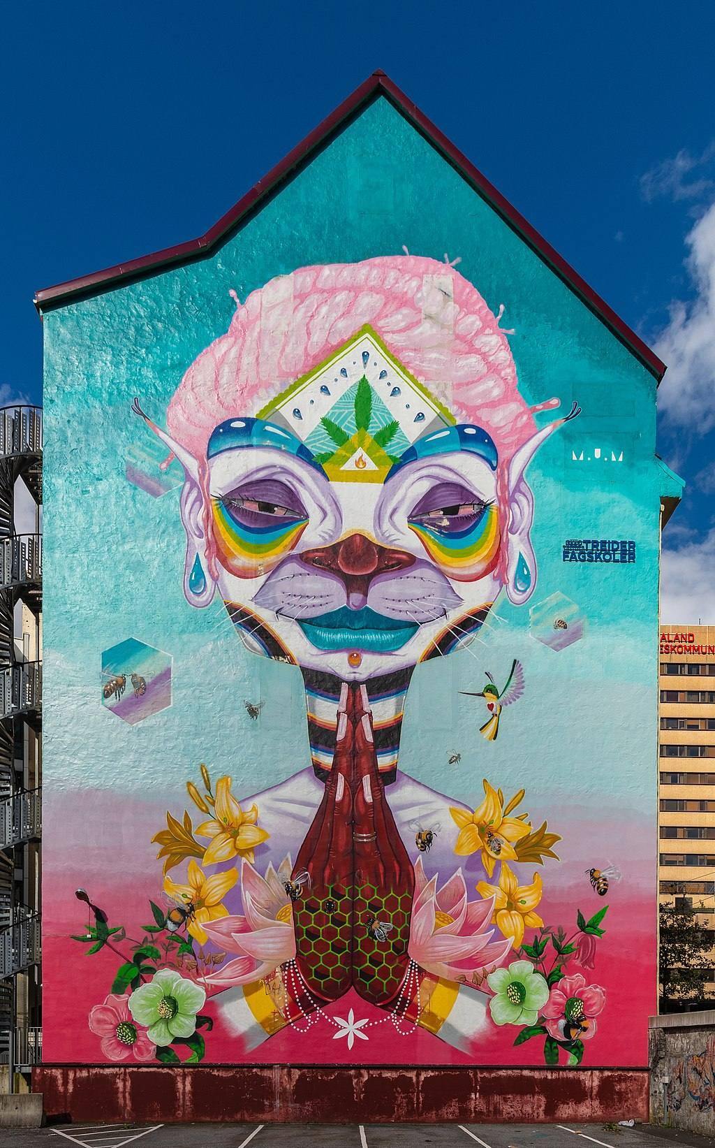 mural fra MuM ved Media City Bergen