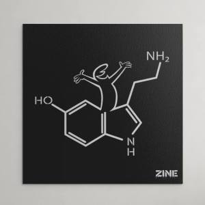 Canvas Linea Zine Happy
