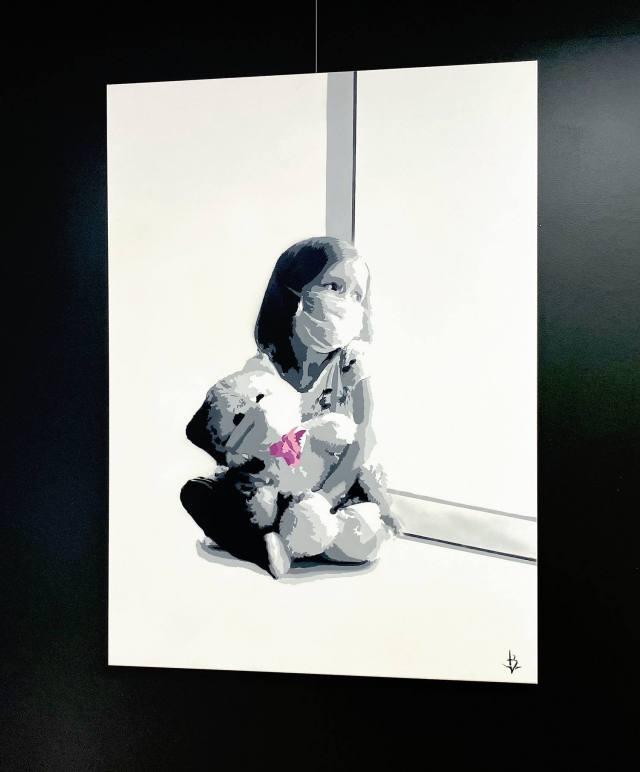 16000,- <p> In This Together. 90x120 deep canvas, Opplag 3<p>Certificate of Authenticity  (COA) signert av kunstner medfølger.
