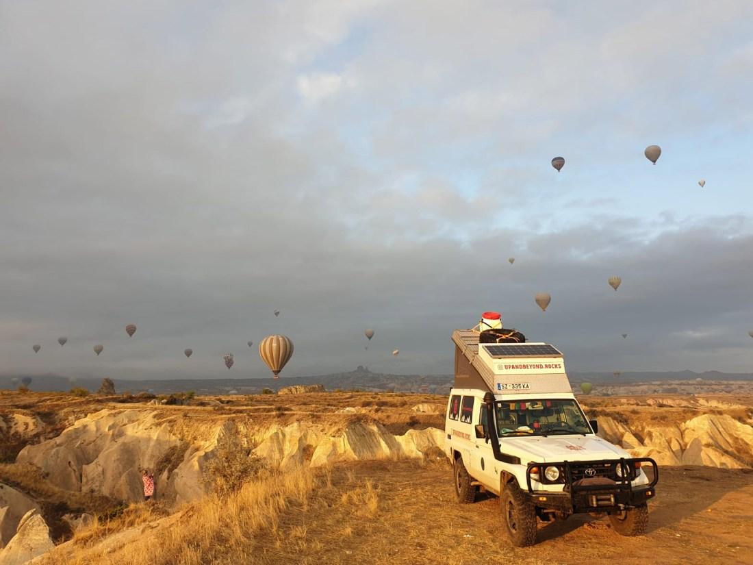 Heißluftballone in Göreme, Türkei.