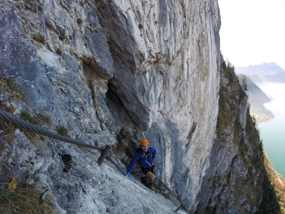 Klettersteig Attersee : Attersee klettersteig u dav