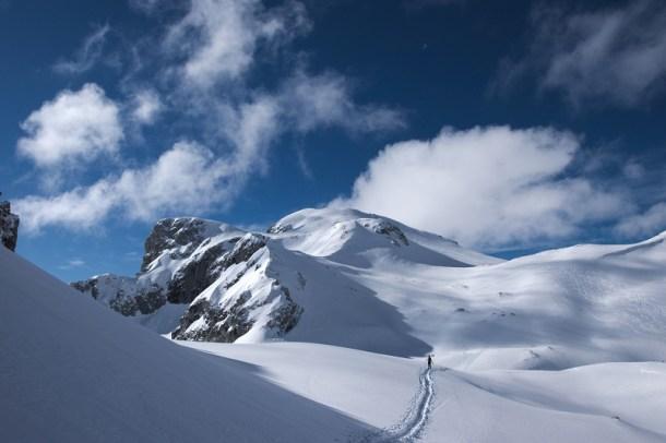 Auf der Hochfläche zwischen Tauernkogel und Eiskogel.