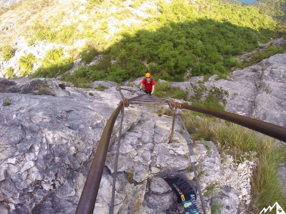 Klettersteig Cima SAT Gardasee